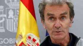 El director del Centro de Alertas y Emergencias Sanitarias, Fernando Simón, en rueda de prensa