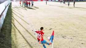 Jesús Mena en un partido de esta temporada. Foto: La Roda CF