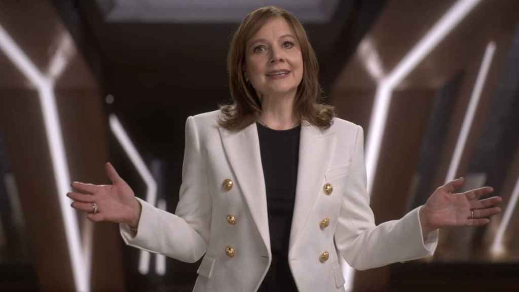 Mary Barra, presidenta y CEO de General Motors, durante su intervención en CES 2021