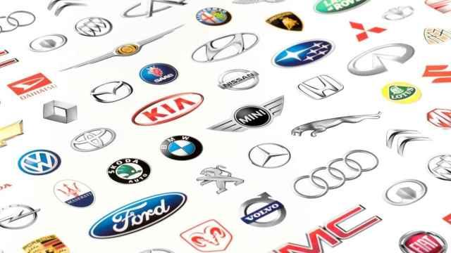 Logotipos de marcas de coches.
