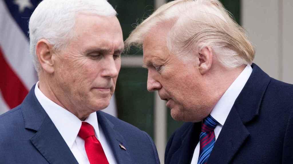 El presidente de EEUU, Donald Trump, y su vicepresidente, Mike Pence.