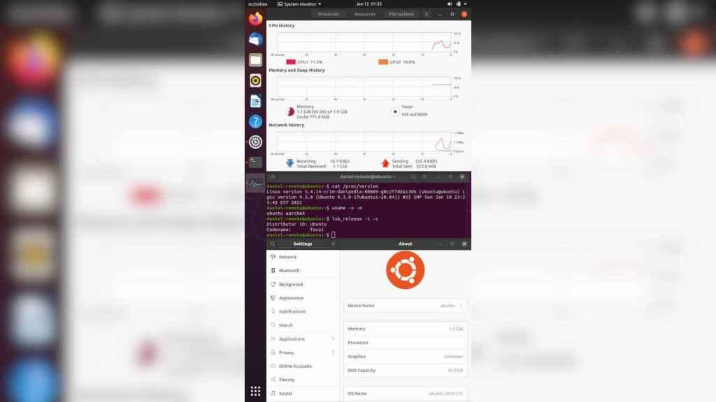 Ubuntu Linux ejecutándose en el iPhone 7