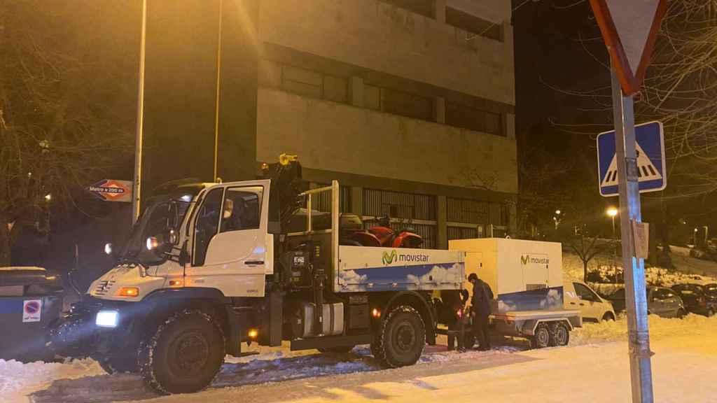 Movistar soluciona la avería eléctrica que desconectó su red en varias zonas de Madrid