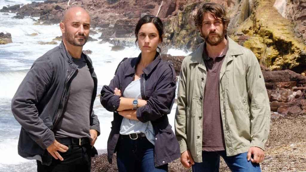 Alain Hernández , Megan Montaner y Félix Gómez protagonizan 'La Caza. Tramuntana'.
