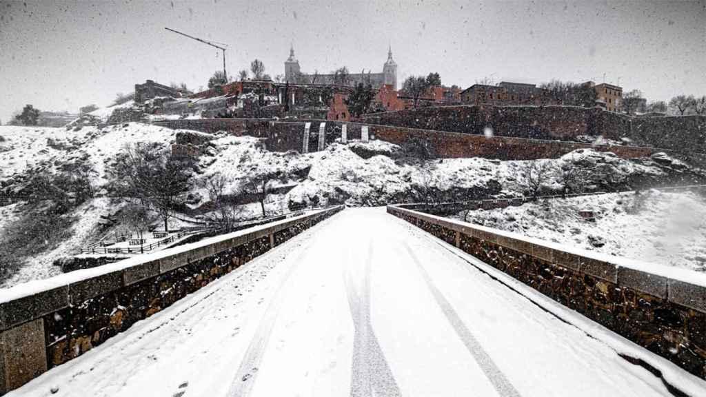 Entrada a Toledo este fin de semana, durante el temporal.