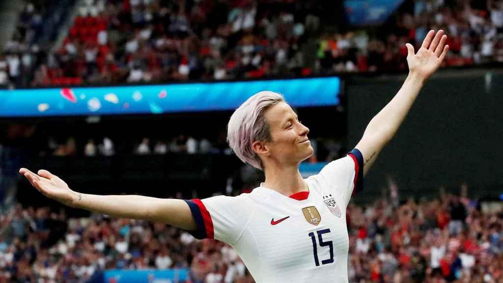 Megan Rapinoe, con la selección de Estados Unidos