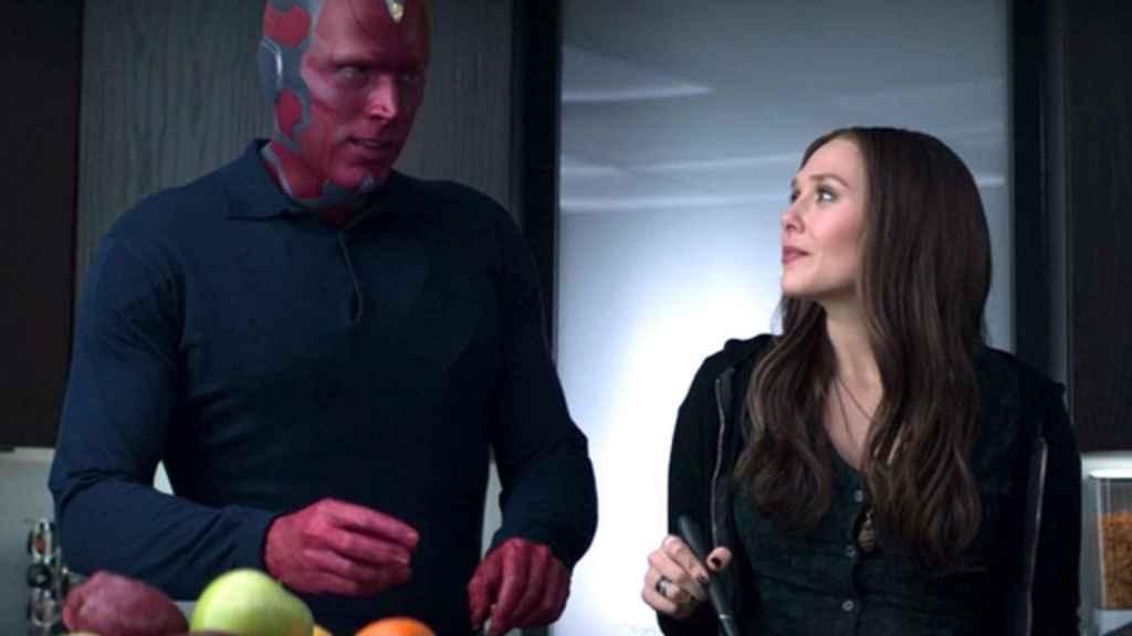 Wanda y Vision en 'Capitán América: Civil War'.