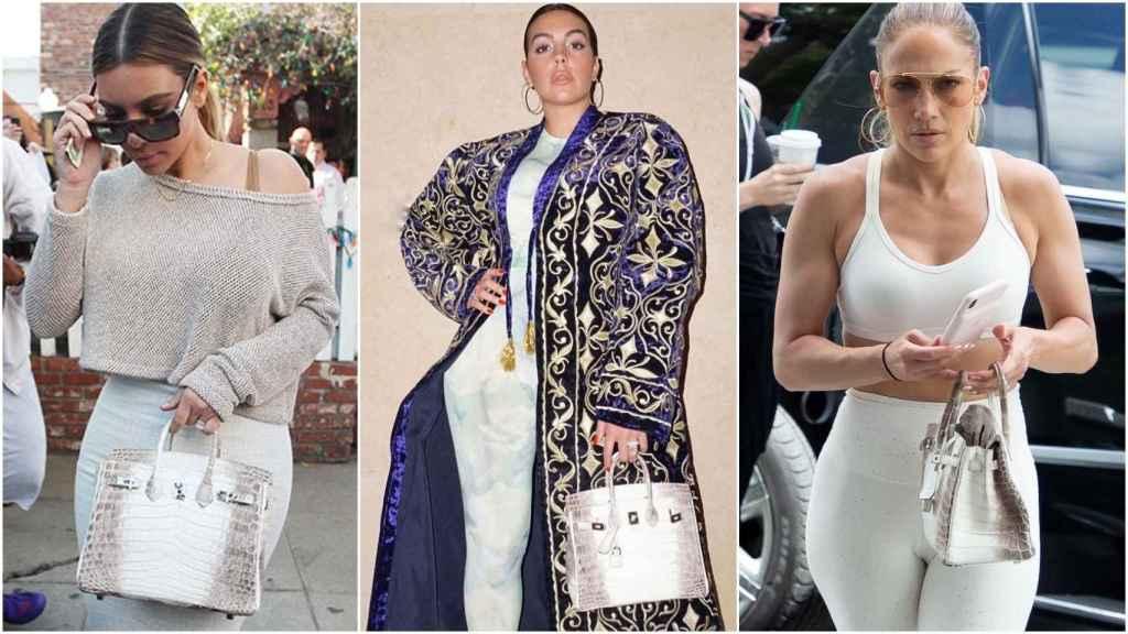 Kim Kardashian, Georgina Rodríguez y Jennifer Lopez con el bolso más caro del mundo.