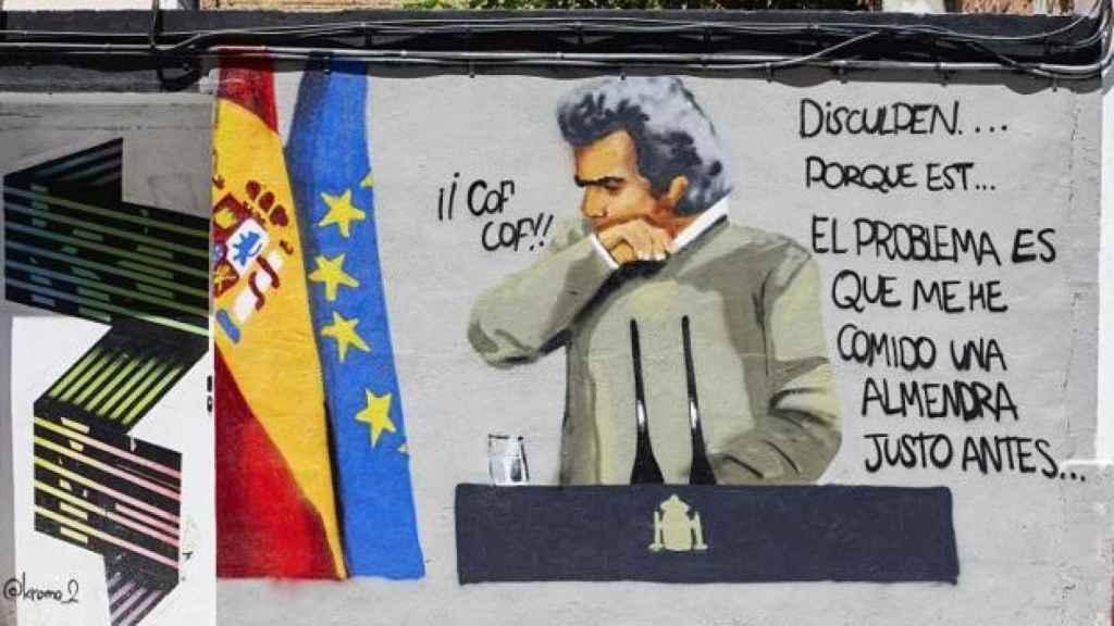 Grafiti dedicado a Fernando Simón.