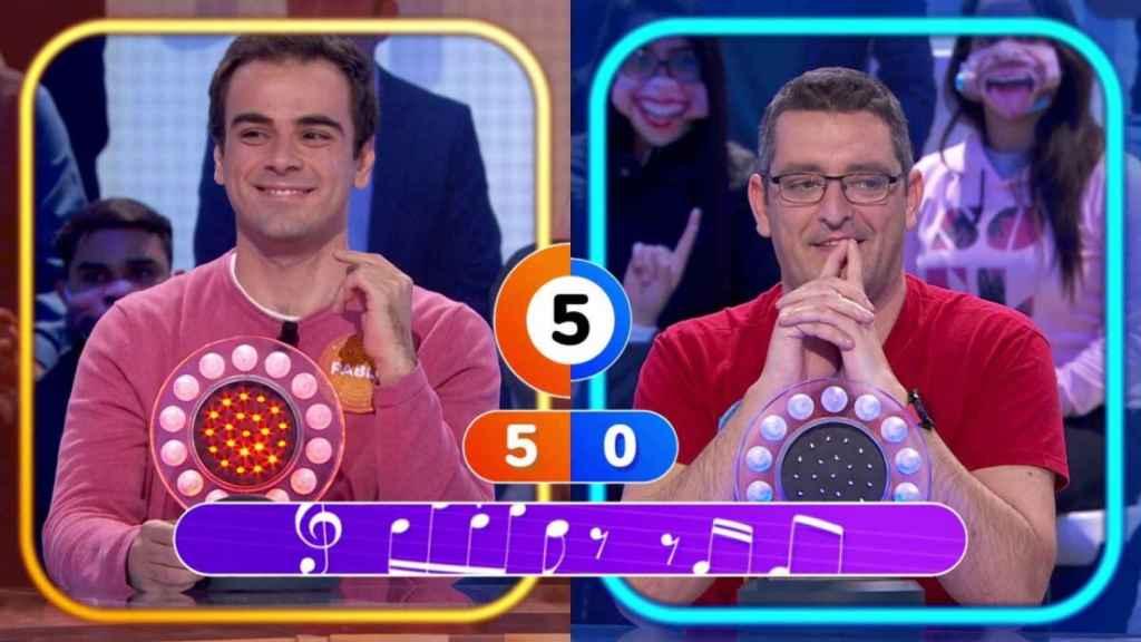 Pablo Díaz y Luis de Lama en 'Pasapalabra' (Antena 3)