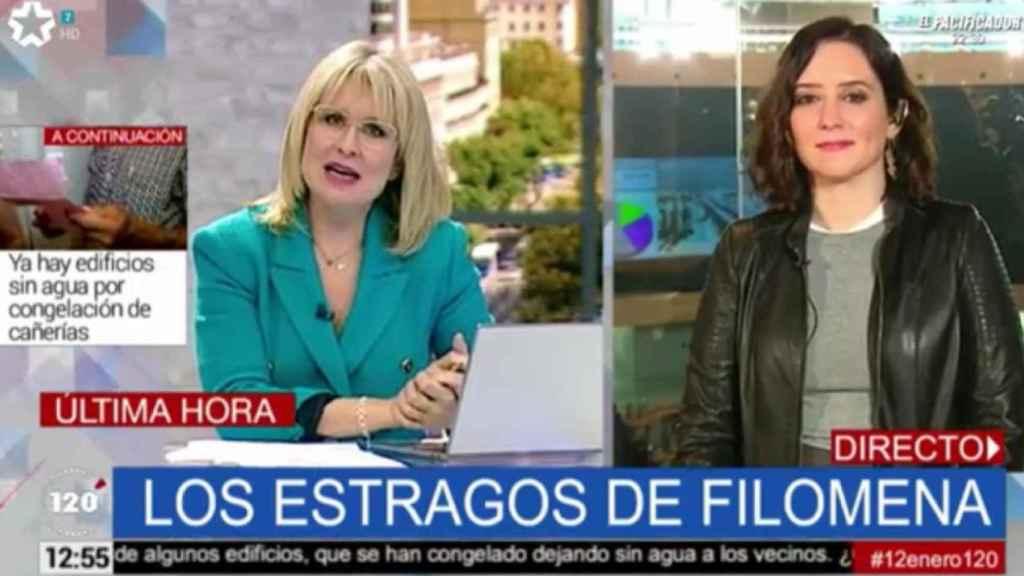 María Rey entrevista a Isabel Díaz Ayuso en Telemadrid