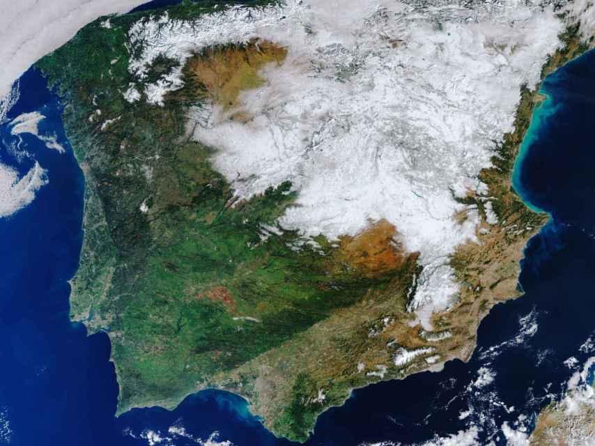 España en una imagen captada por una misión de la ESA.