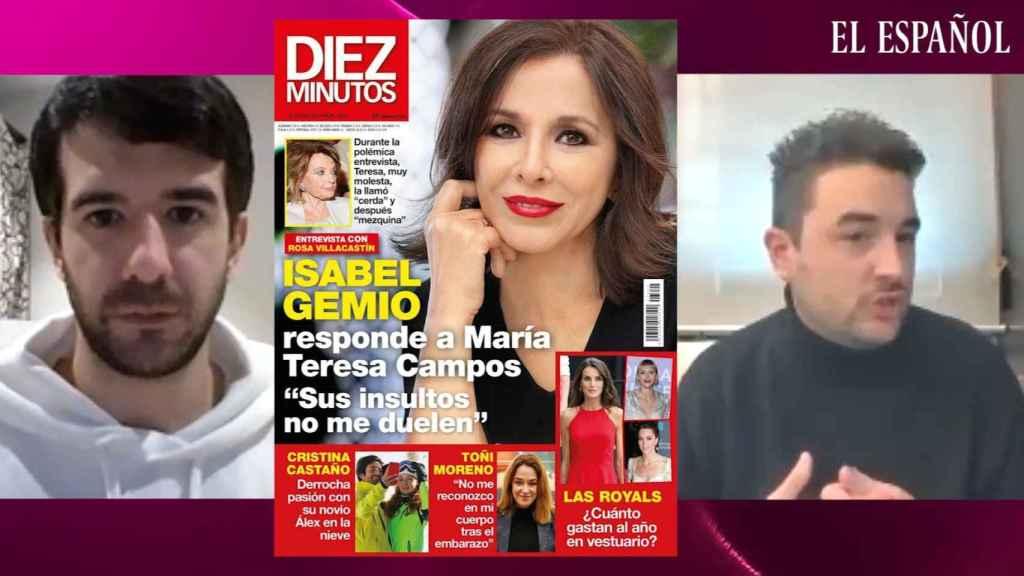 Raúl Rodríguez y Jesús Carmona en el kiosco rosa, en vídeo.