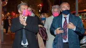 Joan Laporta, durante su campaña. Foto: Twitter (@estimemalbarca)