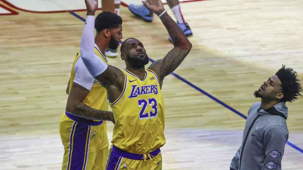 LeBron James, durante un partido de la NBA con Los Ángeles Lakers