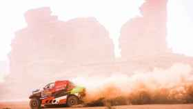 Yazeed Al Rahji, durante una etapa del Rally Dakar 2021