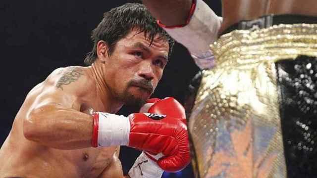El boxeador Manny Pacquiao, en un combate de boxeo