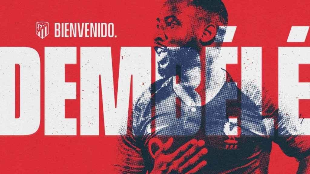 Moussa Dembélé, cedido al Atlético de Madrid. Foto: atleticodemadrid.com