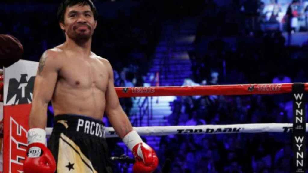 Manny Pacquiao, durante un combate de boxeo