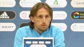 Luka Modric, en rueda de prensa previa a la semifinal de la Supercopa de España