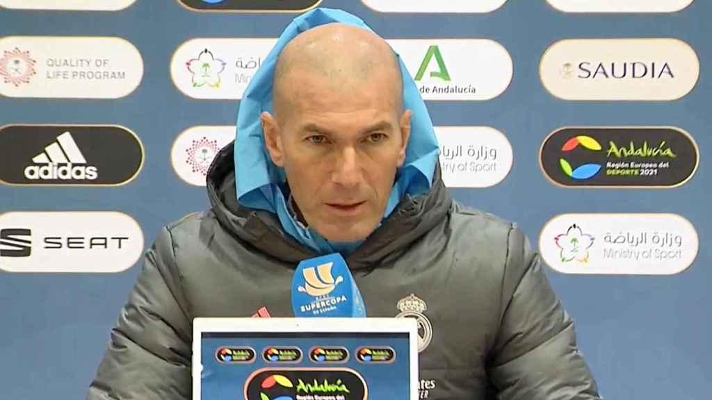 Zinedine Zidane, en rueda de prensa previa a la semifinal de la Supercopa de España