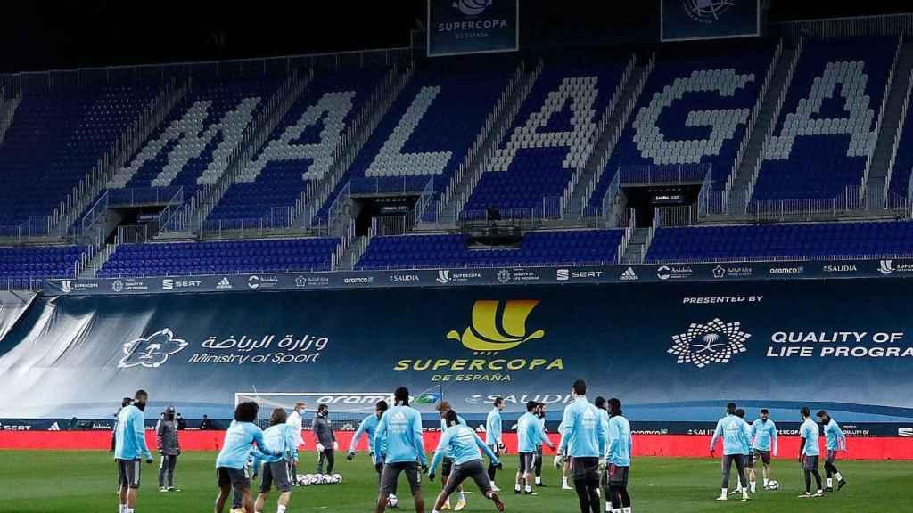 El Real Madrid entrenando en La Rosaleda