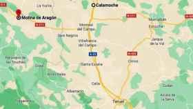Molina de Aragón, Calamocha y Teruel forman el triángulo del frío de la Península