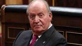 Juan Carlos I, en el Hemiciclo del Congreso en 2018.