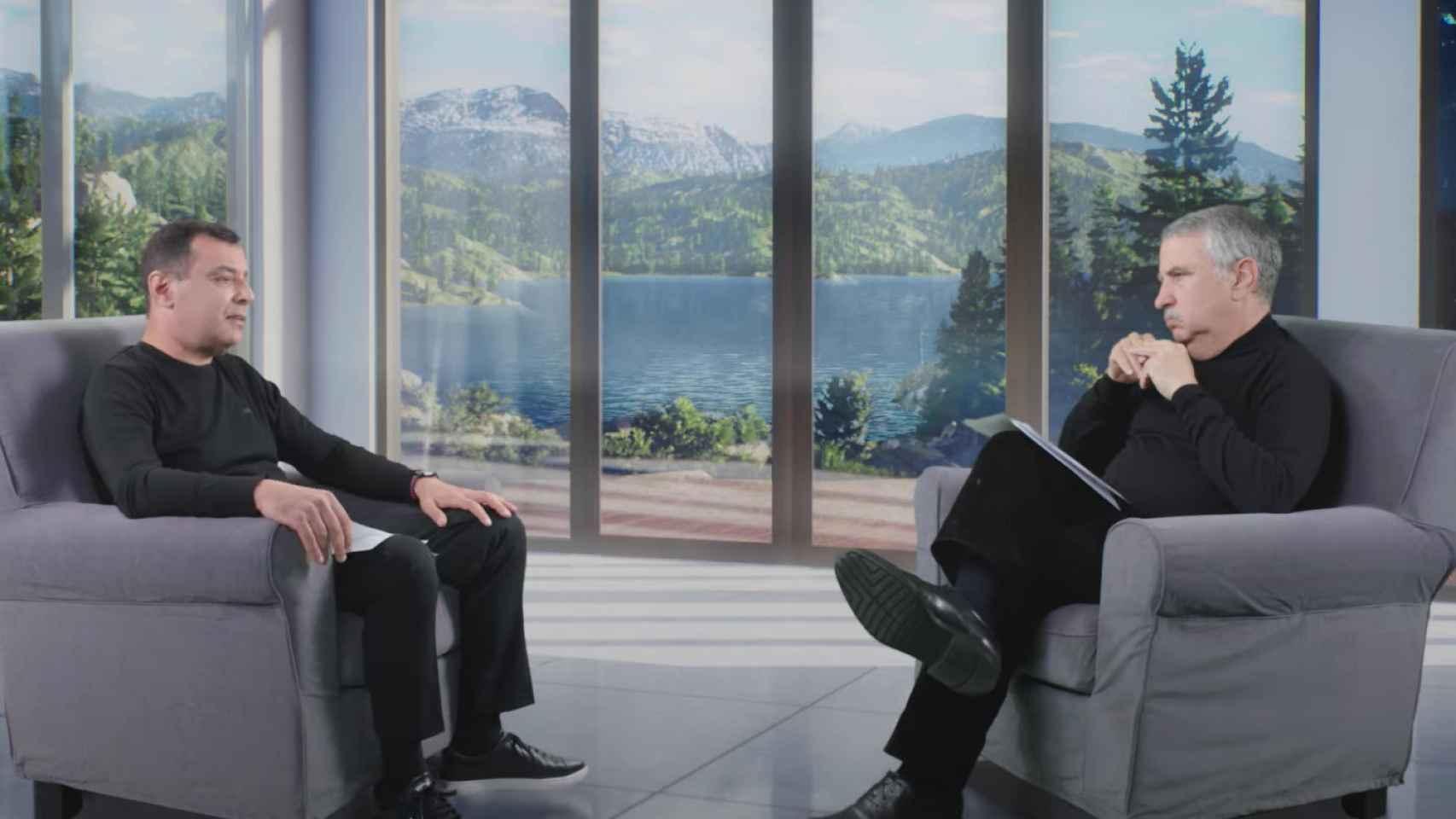 El profesor Amnon Shashua (izquierda) y el premio Pulitzer Thomas Friedman (derecha) en CEs 2021.