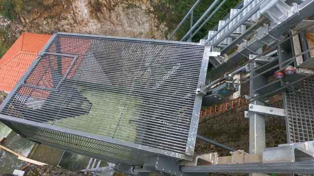 El ascensor del río Nansa para salvar la presa de Palombera. Foto: ACCIONA.