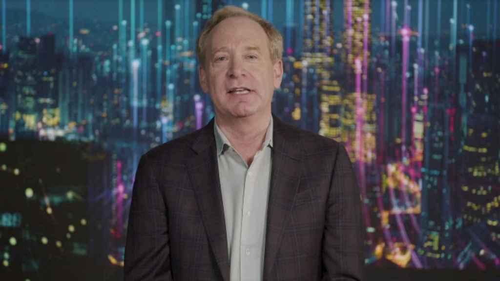 Brad Smith, presidente de Microsoft, en su ponencia en CES 2021