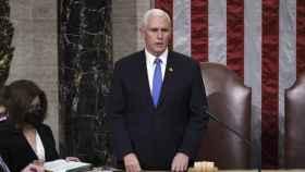 Mike Pence, en el Congreso de los Diputados.