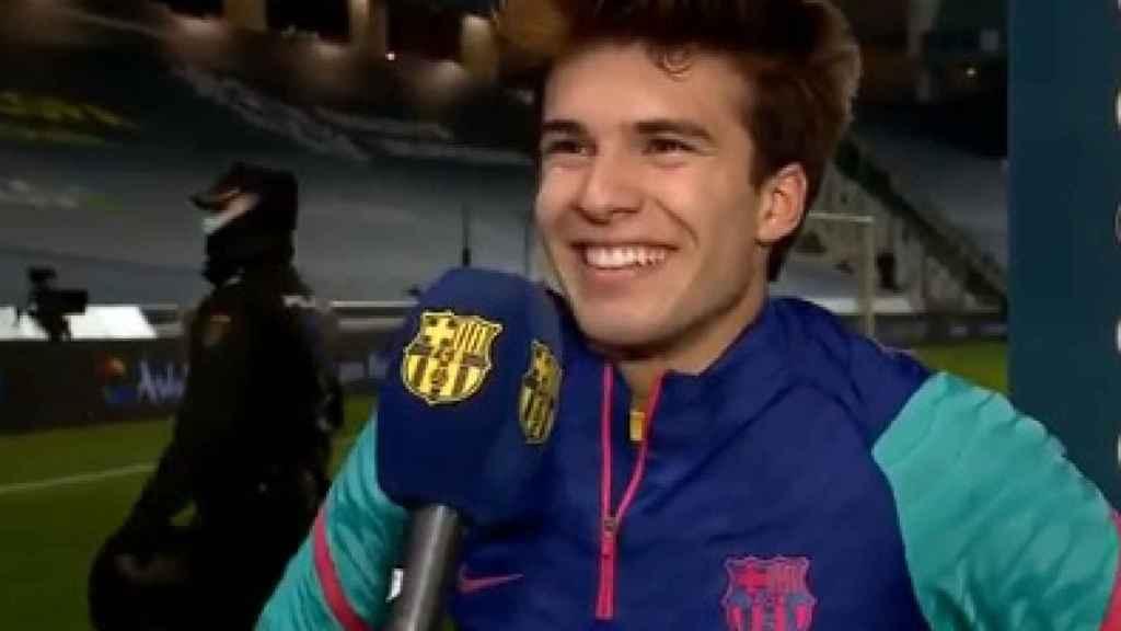 Riqui Puig: Soy un chaval bastante feliz aunque no juegue; tengo familia y tengo salud