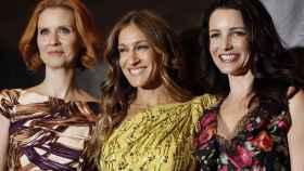 Las actrices Cynthia Nixon, Sarah Jessica Parker y Kristin Davis en los ShoWest Awards de 2010.