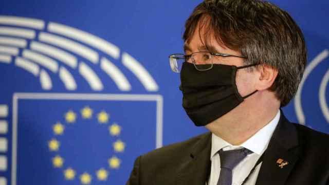 El expresidente catalán, Carles Puigdemont, en el Parlamento Europeo.