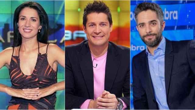 Silvia Jato, Jaime Cantizano y Roberto Leal en montaje de BLUPER.