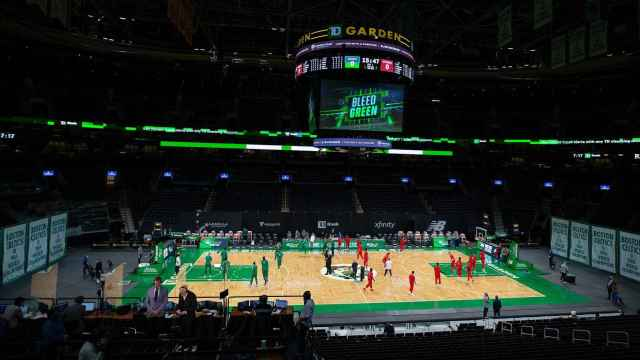 TD Garden, pista de los Boston Celtics