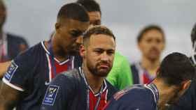 Neymar tras ganar la Supercopa de Francia