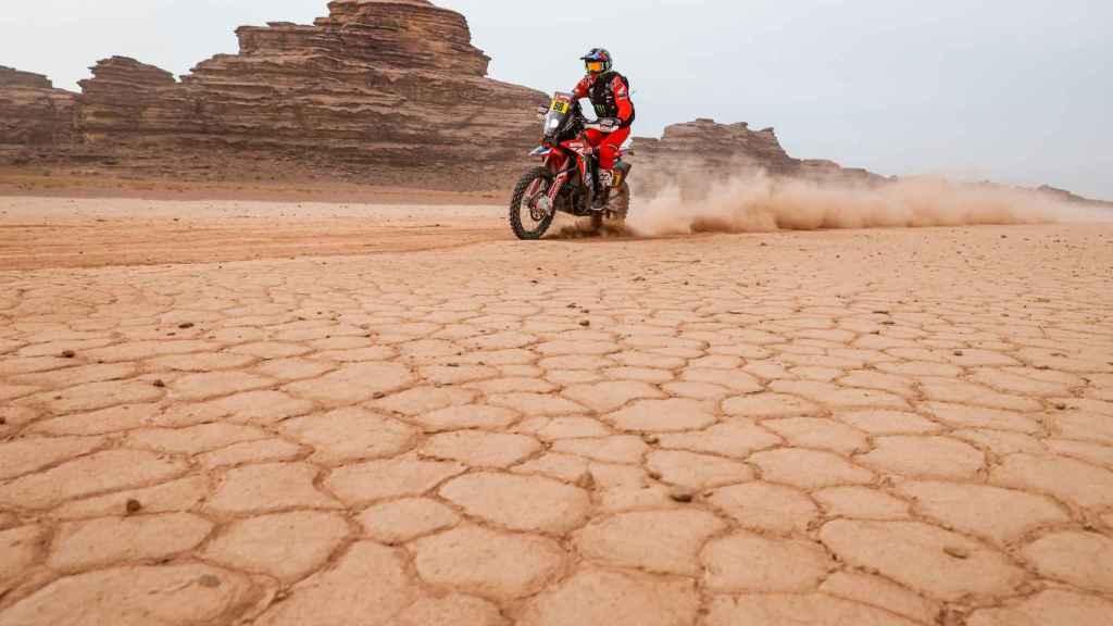Joan Barreda, en el Rally Dakar 2021. Foto: Twitter (@dakar)