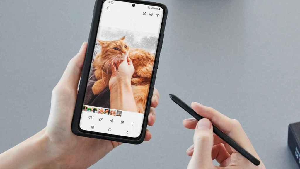 Samsung Galaxy S21 Ultra con funda y S-Pen