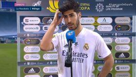 Marco Asensio, ante el micrófono de #Vamos tras la semifinal de la Supercopa de España