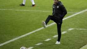 Marcelino, durante la semifinal de la Supercopa de España entre Real Madrid y Athletic
