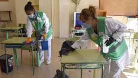 Limpieza de colegios en Ciudad Real. Foto: Diputación