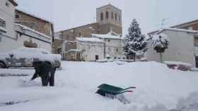 Imagen de la gran nevada en la localidad guadalajareña de Pareja