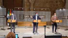 Guillermo Fernández Vara en rueda de prensa tras el Consejo de Gobierno de la Junta.