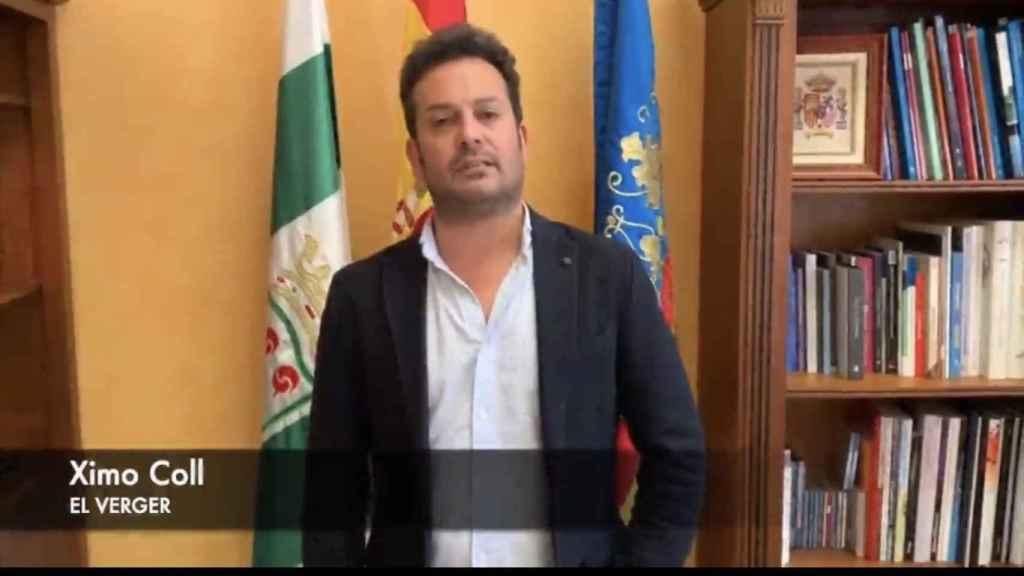 Ximo Coll, alcalde socialista de El Verger (Alicante).