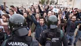 Intervención de la Guardia Civil en Sant Julià de Ramis el 1-O./