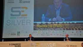 El presidente de la Diputación, Francisco José Requejo, durante el congreso sobre 'silver economy' celebrado en noviembre.