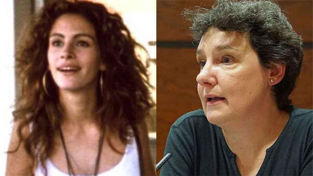 Julia Roberts, en Pretty Woman, y Beatriz Gimeno.
