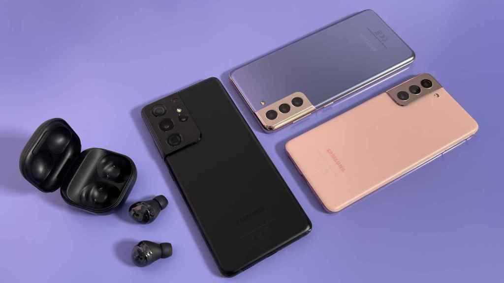 Nueva serie Samsung Galaxy S21 y los Galaxy Buds Pro.